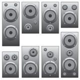 Insieme di audio altoparlanti. Fotografia Stock