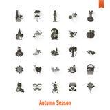 Insieme di Autumn Icons piano Fotografia Stock Libera da Diritti
