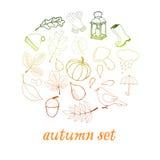 Insieme di autunno fotografie stock libere da diritti