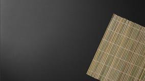 Insieme di bambù su fondo nero immagini stock