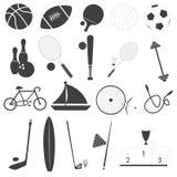 Insieme di base di vettore delle icone di sport Fotografie Stock