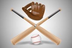 Insieme di baseball isolato Immagini Stock
