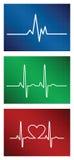 Insieme di battito cardiaco Fotografia Stock