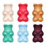 Insieme di bei orsi gommosi variopinti royalty illustrazione gratis