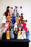 Insieme di belle bambole Fotografie Stock