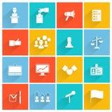Insieme di bianco delle icone di elezioni illustrazione di stock