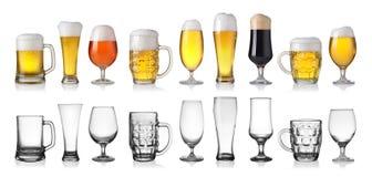 Insieme di birra Immagini Stock Libere da Diritti