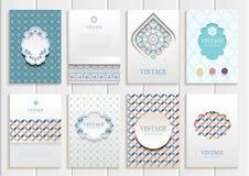 Insieme di Brochures3 Fotografia Stock