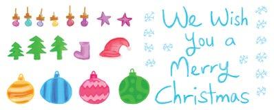 Insieme di Buon Natale royalty illustrazione gratis