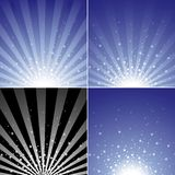 Insieme di burst della stella Immagini Stock Libere da Diritti