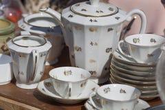 Insieme di caffè d'annata della porcellana Fotografia Stock