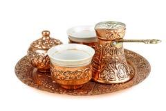 Insieme di caffè turco Fotografia Stock