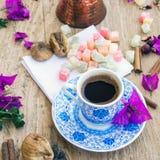 Insieme di caffè turco Fotografie Stock