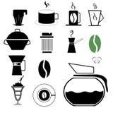 Insieme di caffè verde Fotografie Stock Libere da Diritti