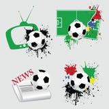 Insieme di calcio Immagini Stock Libere da Diritti