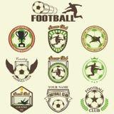 Insieme di calcio di calcio illustrazione di stock