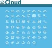 Insieme di calcolo dell'icona della nuvola Fotografie Stock