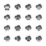 Insieme di calcolo dell'icona della nuvola, vettore eps10 illustrazione di stock