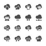 Insieme di calcolo dell'icona della nuvola, vettore eps10 Immagini Stock