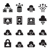 Insieme di calcolo dell'icona di concetto della nuvola Fotografie Stock Libere da Diritti