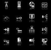 Insieme di calcolo di serie delle icone della rete royalty illustrazione gratis