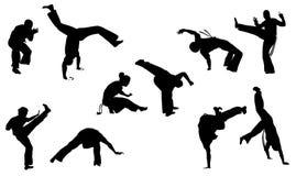 Insieme di Capoeira Immagine Stock