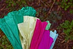 Insieme di carta colorata su fondo bianco fotografie stock libere da diritti