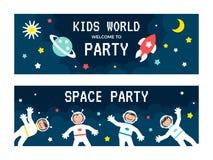 Insieme di carta degli astronauti dei bambini Immagini Stock