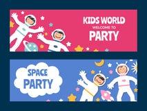 Insieme di carta degli astronauti dei bambini Immagine Stock Libera da Diritti