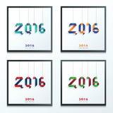 Insieme di carta del buon anno Fotografia Stock Libera da Diritti