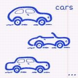 Insieme di carta dell'automobile illustrazione vettoriale