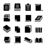 Insieme di carta dell'icona Fotografia Stock