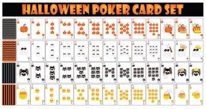 Insieme di carta della mazza di Halloween Fotografie Stock