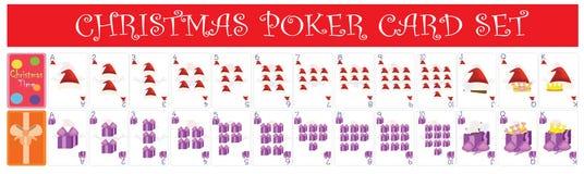 Insieme di carta della mazza di Natale Fotografia Stock
