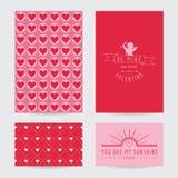 Insieme di carta di San Valentino Fotografia Stock