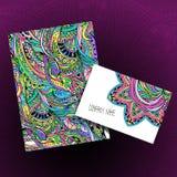 Insieme di carta e della carta decorative Immagine Stock Libera da Diritti