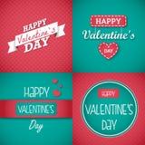Insieme di carta felice di San Valentino Immagine Stock Libera da Diritti