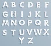 Insieme di carta l'alfabeto Immagine Stock Libera da Diritti