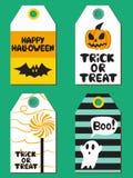 Insieme di carte di Halloween Illustrazione di vettore Fotografia Stock Libera da Diritti