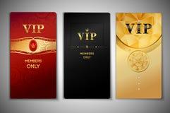Insieme di carte di VIP Fotografia Stock
