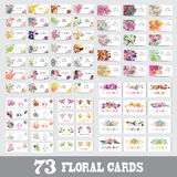 Insieme di carte floreale Fotografia Stock