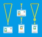 Insieme di carte di plastica di identificazione del fumetto Vettore royalty illustrazione gratis