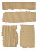 Insieme di cartone strutturato con i bordi lacerati Immagine Stock Libera da Diritti