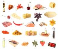 Insieme di circa 27 alimenti Immagine Stock Libera da Diritti