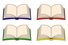 Insieme di clipart di vettore del libro aperto, simbolo, progettazione dell'icona Ruota dentata illustrazione di stock