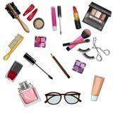Insieme di clipart Make up e dei cosmetici Immagini Stock