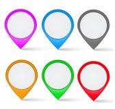 Insieme di colorato multi gli indicatori della mappa Fotografie Stock
