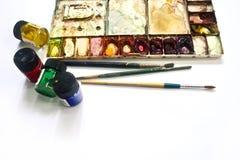 Insieme di colore della pittura Fotografia Stock