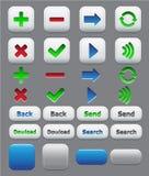 Insieme di colore delle icone di applicazione Fotografia Stock