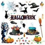 Insieme di colore di Halloween Illustrazione di Stock